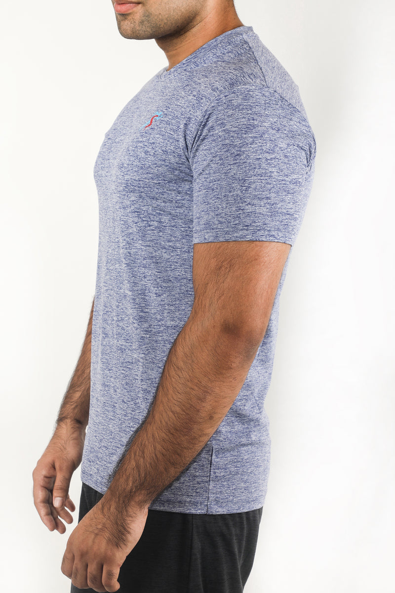 Grit Gym T-Shirt For Men - Blue Melange