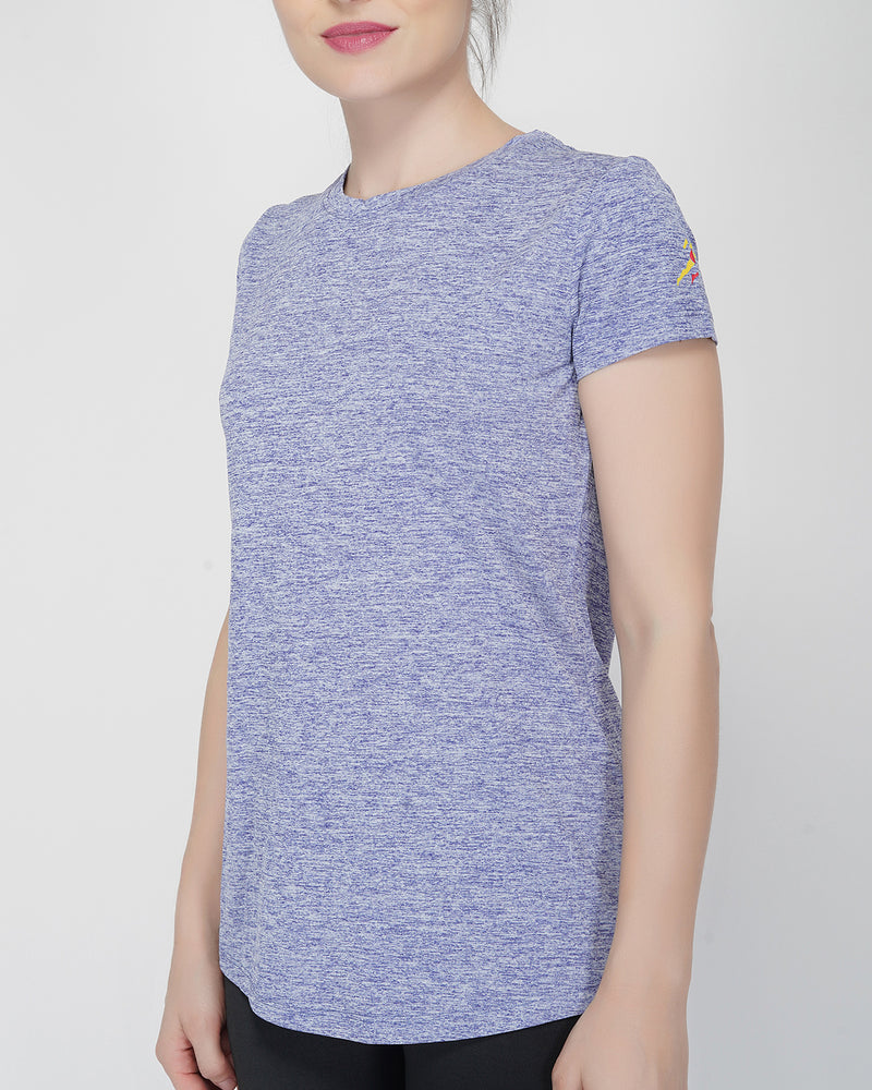 Shape Long Tail Gym T-Shirt For Women - Yellow Logo