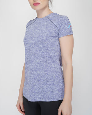 Trim Raglan T-Shirt - Blue Melange