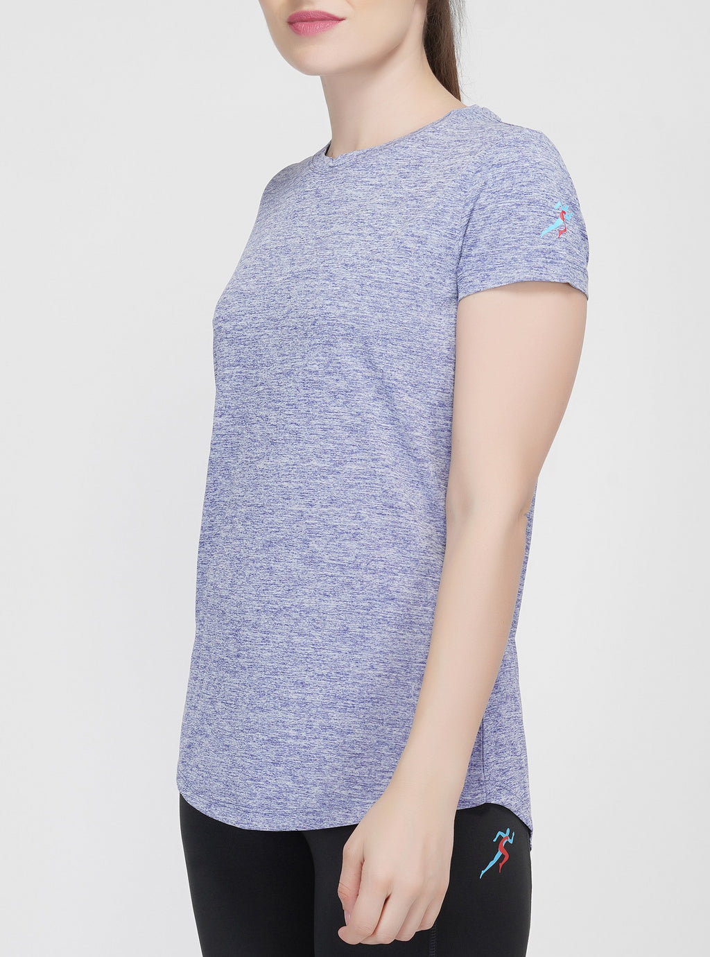 Shape Long Tail T-Shirt - Blue Melange