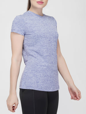 Trim Crew Neck T-shirt - Blue Melange