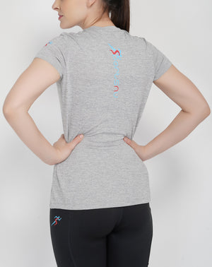 Move Crew Gym T-shirt For Women - Grey Melange