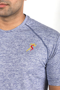Grit Raglan Gym T-Shirt For Men - Yellow Logo
