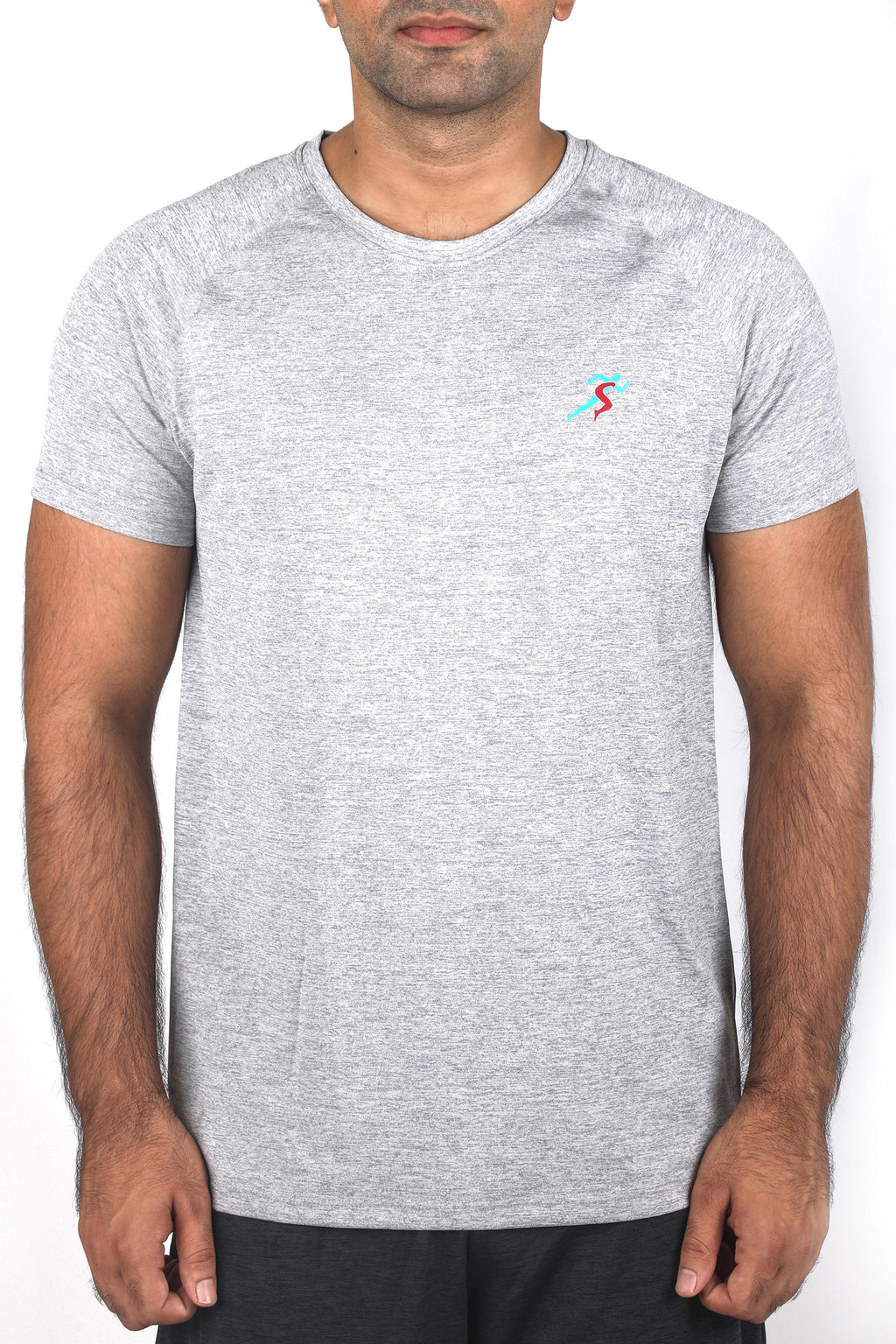 Grit Gym T-Shirt For Men - Grey Melange