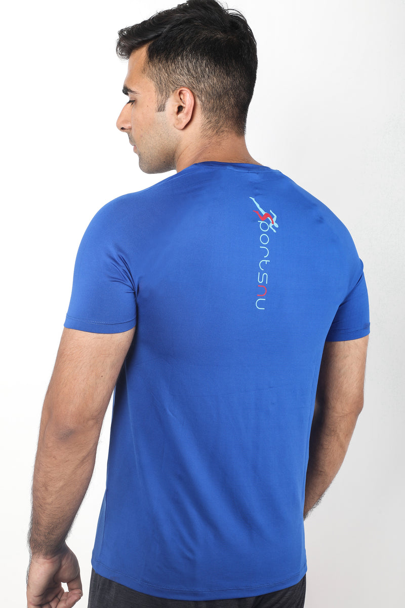 Train Gym T-Shirt For Men - Electric Blue