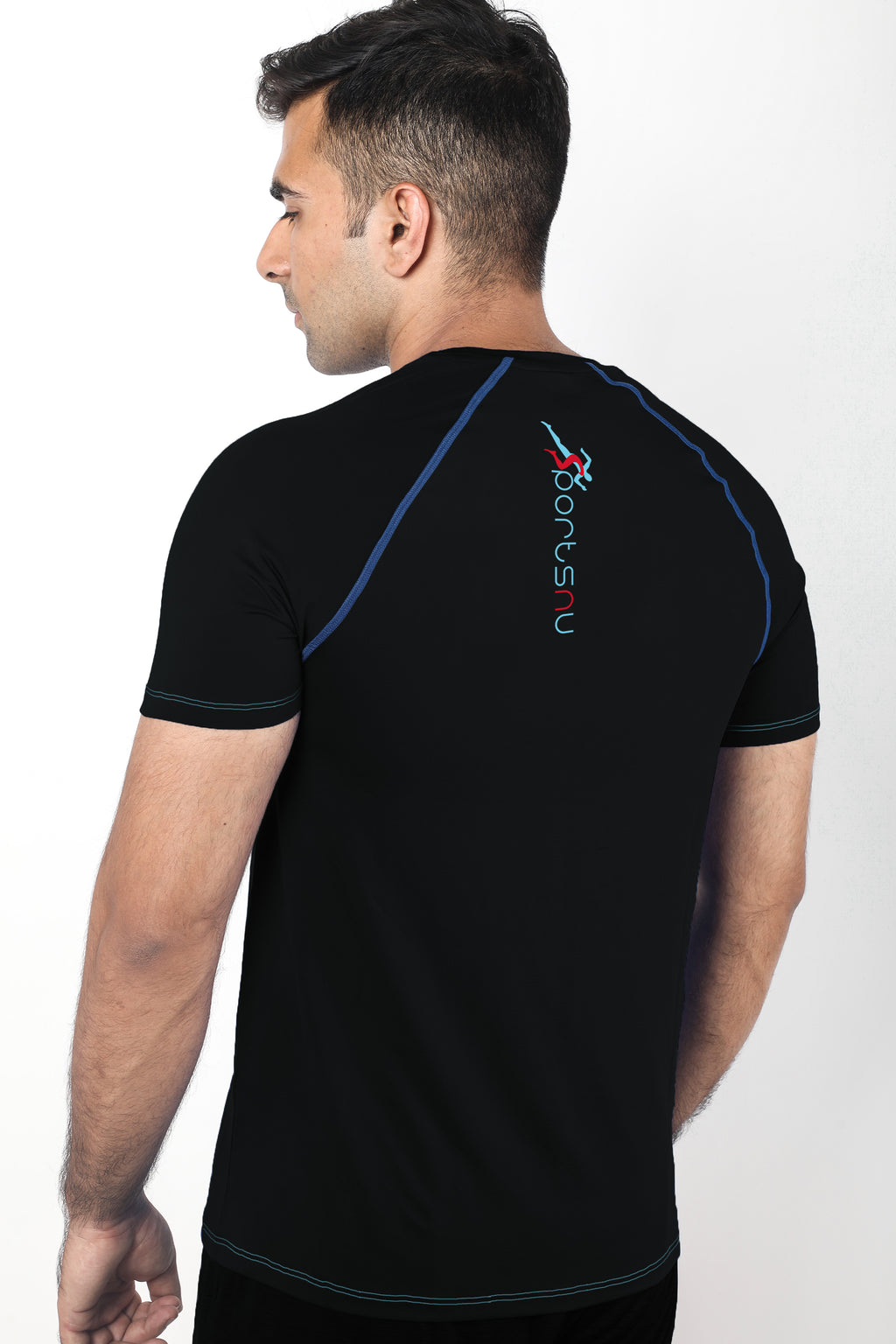 Train Raglan Gym T-Shirt For Men - Black
