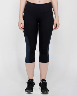 Play Sports, Gym Capris For Women - Grey Melange