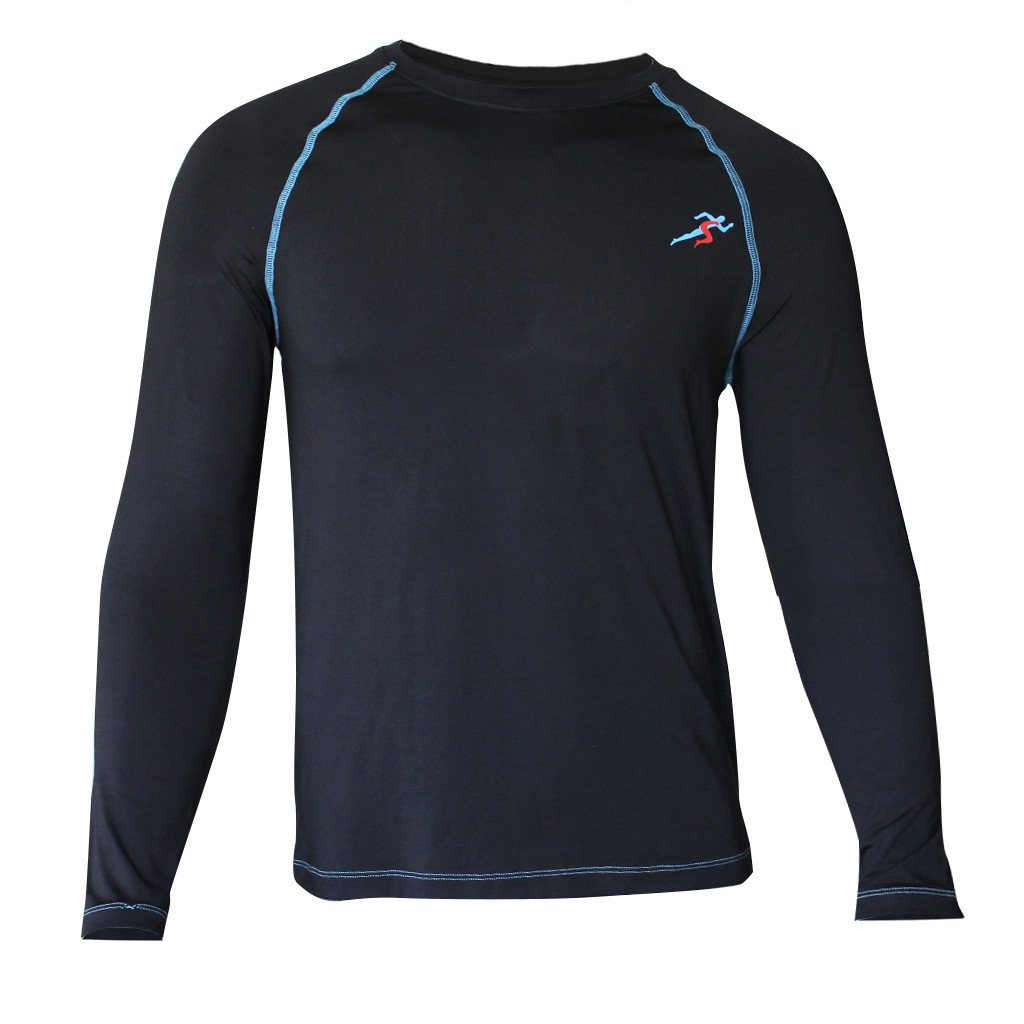 Train Full Sleeves Gym T-shirt For Men - Black