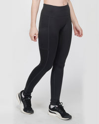 Lean Ankle Leggings - Black (Ankle Length Sports, Gym Pants For Women )