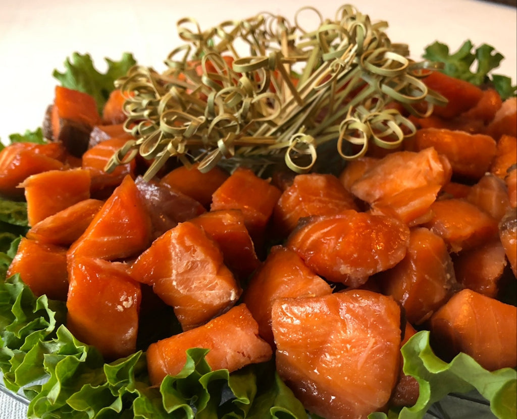 Smoked Maple Salmon Bites