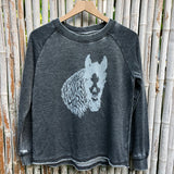 Metal Pony White Wash Sweatshirt