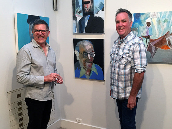 Last night's opening of 'Purely Visual + Trading Places' from James Kearns and Nick Osmond was a fun night!