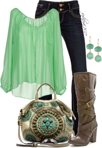 Hippie style dress for St. Patrick's Day