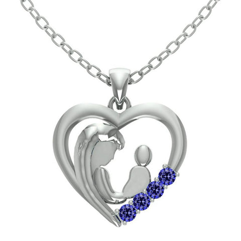 Orchid Jewelry Mom CollectionTanzanite Heart Shaped Pendant
