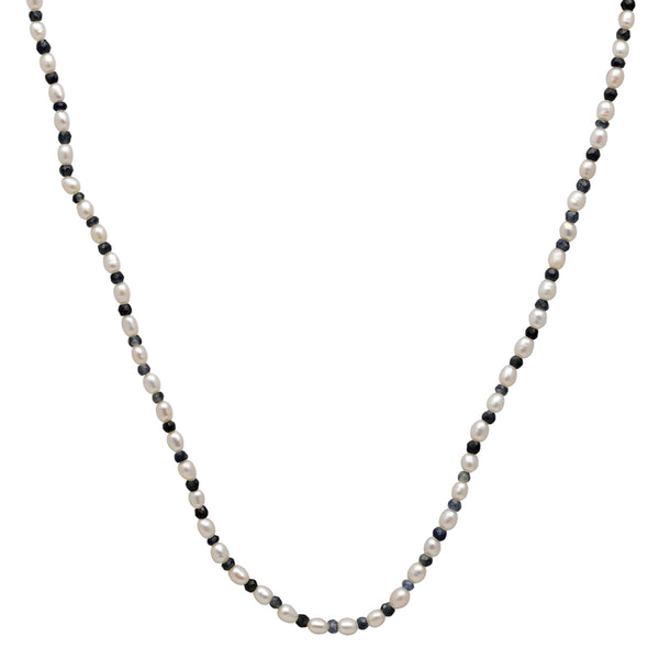 Jeweltique Designs 39.5 Carat Sapphire & Pearl 14k Yellow Gold Beaded Necklace
