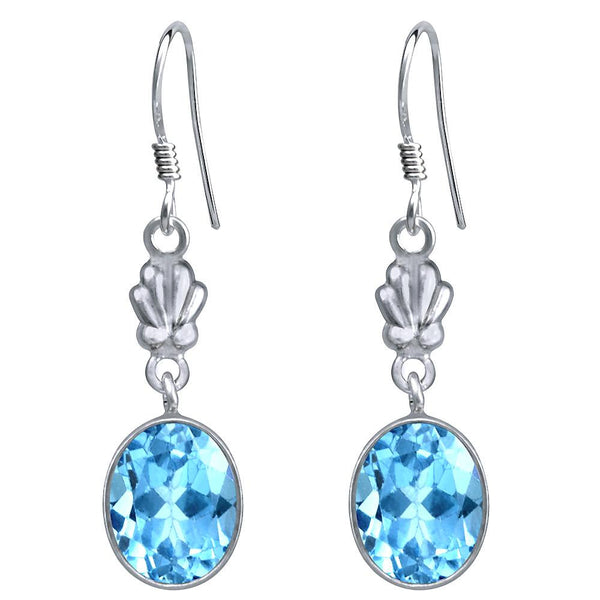 Orchid Jewelry 925 Sterling Silver 7.90 Carat Genuine Blue Topaz Earring