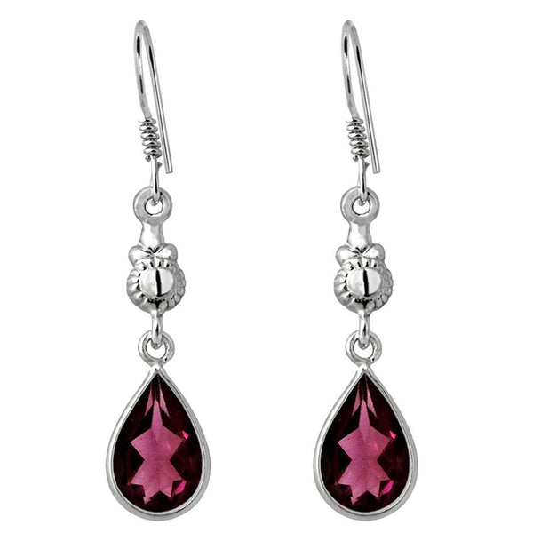 Orchid Jewelry 925 Sterling Silver 6.60 Carat Natural Garnet Gemstone Dangle Earrings