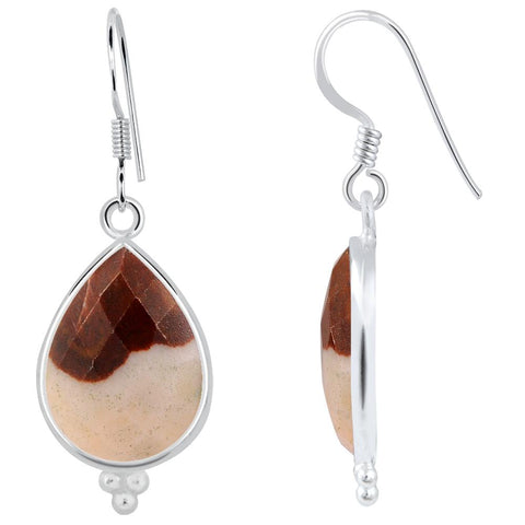 Orchid Jewelry 925 Sterling Silver 17.60 Carat Genuine Outback Jasper Earring