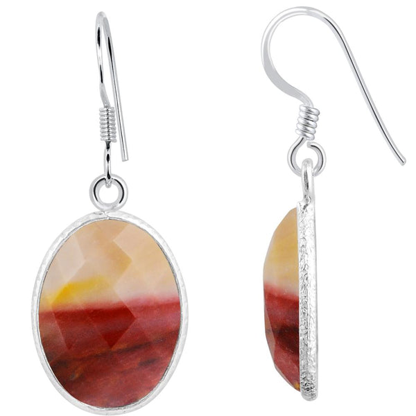 Orchid Jewelry 925 Sterling Silver 14.60 Carat Mookaite Jasper Drop Earrings