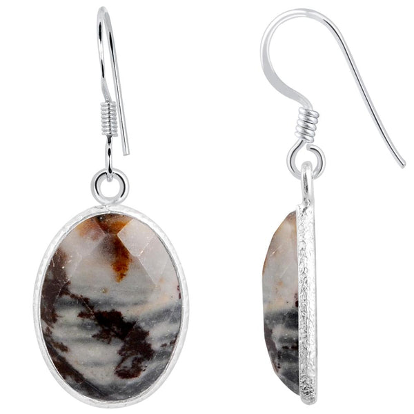 Orchid Jewelry 925 Sterling Silver 17.90 Carat Outback Jasper Drop Earrings