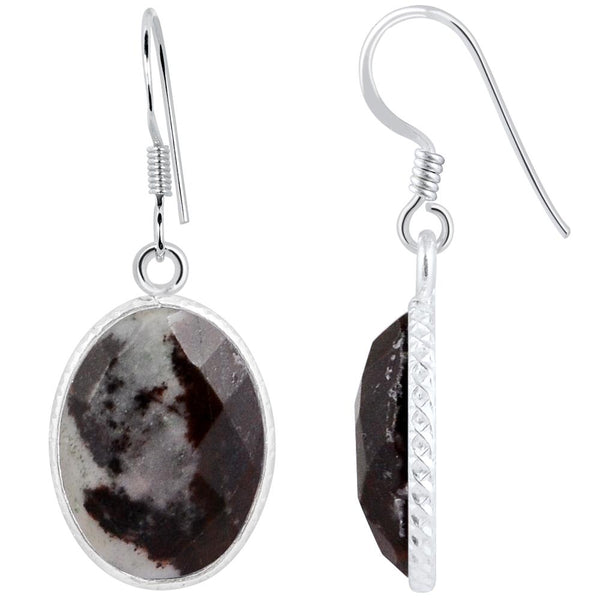 Orchid Jewelry 925 Sterling Silver 15.50 carat Genuine Outback Jasper Earring