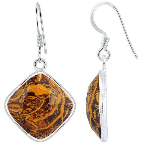 Orchid Jewelry 925 Sterling Silver 18.10 Carat Mariam Jasper Drop Earrings