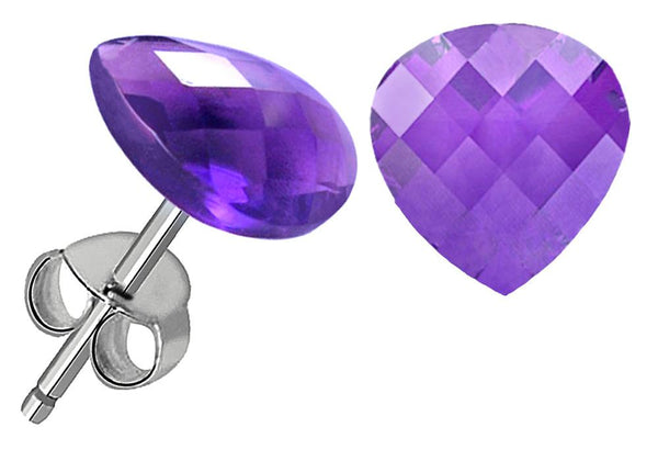 Orchid Jewelry 6.25 Carat Amethyst 925 Sterling Silver Stud Earrings