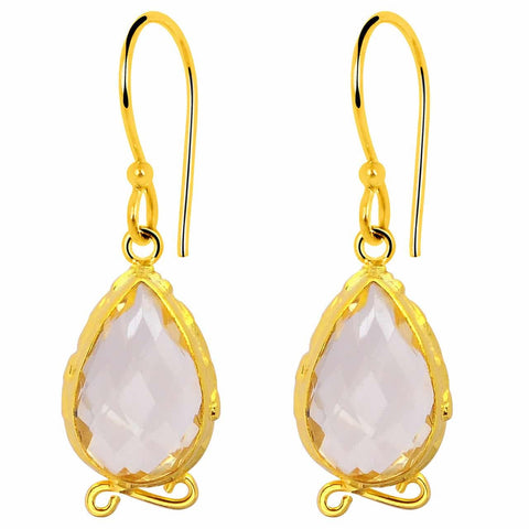 Orchid Jewelry 9.50 Carat Teardrop Citrine 925 Sterling Silver 14k Gold Gold Plated Earrings