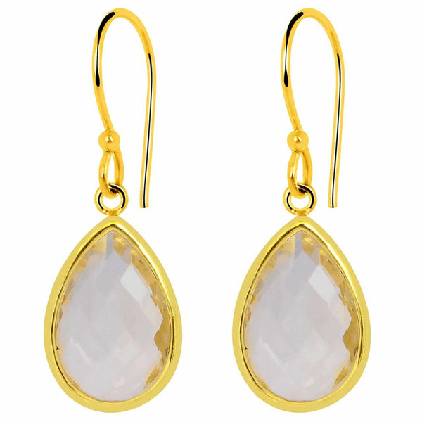 Orchid Jewelry 9.40 Carat Genuine Citrine Gold Plated Sterling Silver Earring