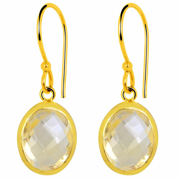 Orchid Jewelry 6.00 Carat Citrine 14k Yellow Gold Plated Sterling Silver Earrings