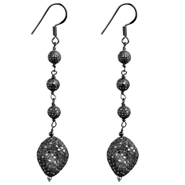 Jeweltique Designs 925 Sterling Silver 8.00 Carat Genuine Diamond Drop Earrings