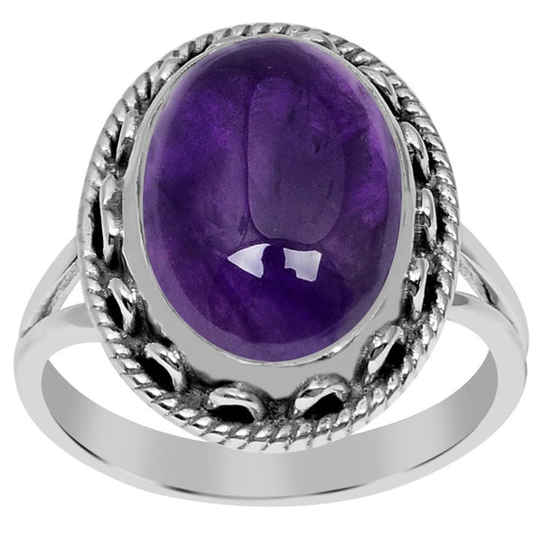 Orchid Jewelry 925 Sterling Silver 5.50 Carat Genuine Amethyst Ring