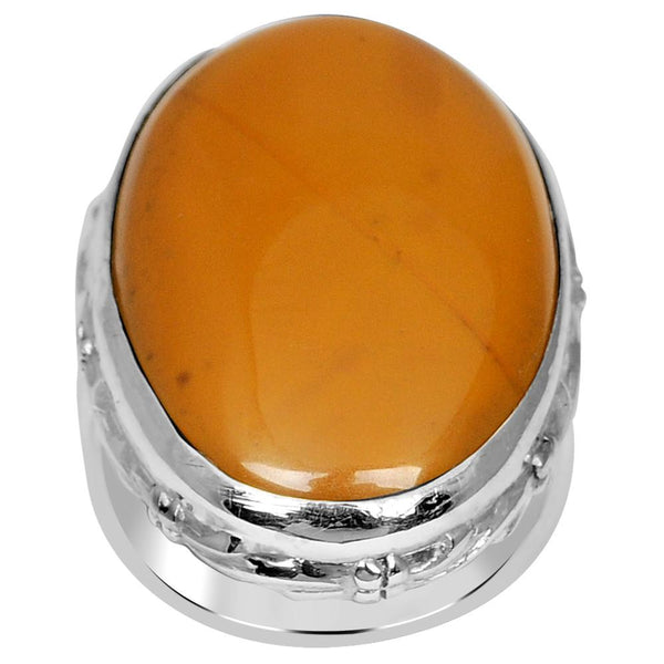 Orchid Jewelry 925 Sterling Silver 24.5 Carat Genuine Jasper Ring
