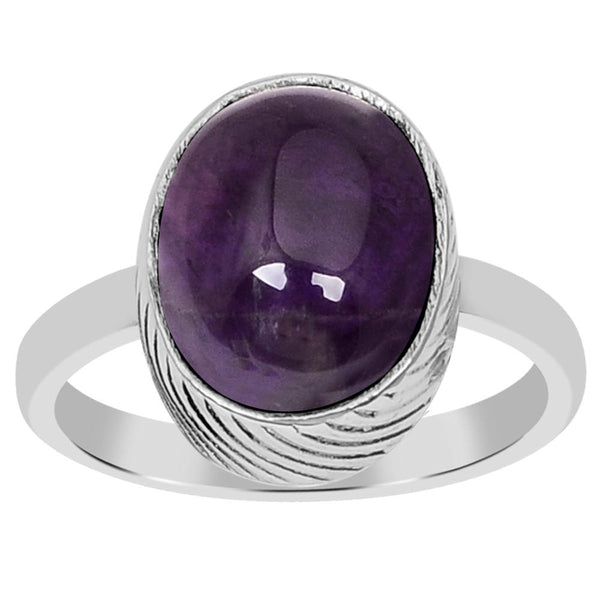 Orchid Jewelry 925 Sterling Silver 3.10 Carat Genuine Amethyst Ring