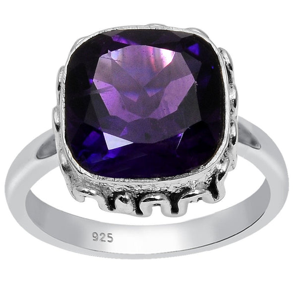 Orchid Jewelry 925 Sterling Silver 3.40 Carat Genuine Amethyst Ring