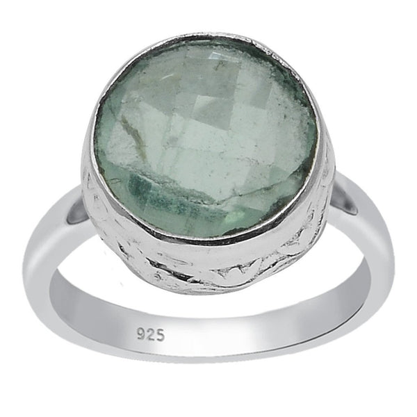 Orchid Jewelry 925 Sterling Silver 3.20 Carat Genuine Fluorite Ring