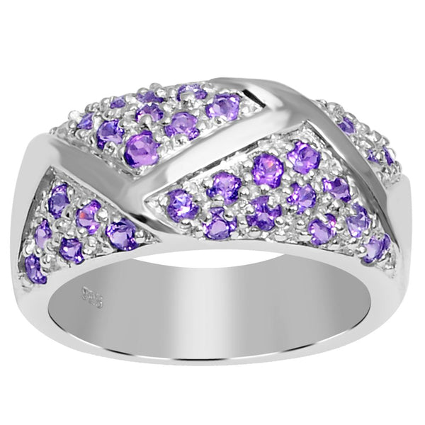Orchid Jewelry Sterling Silver Gemstone Bridal Wedding Ring For Women