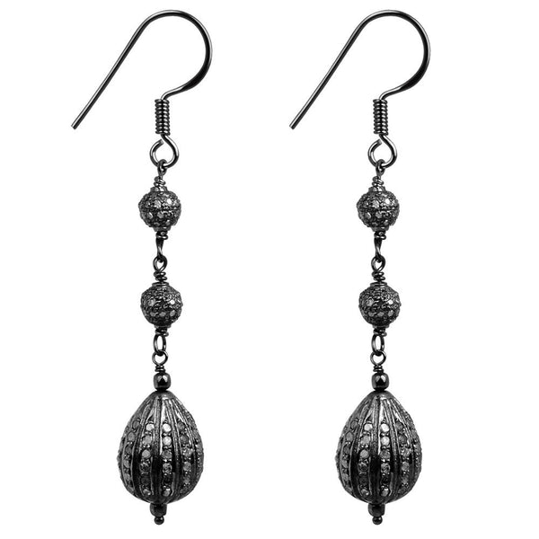 Jeweltique Designs Sterling Silver 2.75 Carat Diamond Tear Drop Earrings
