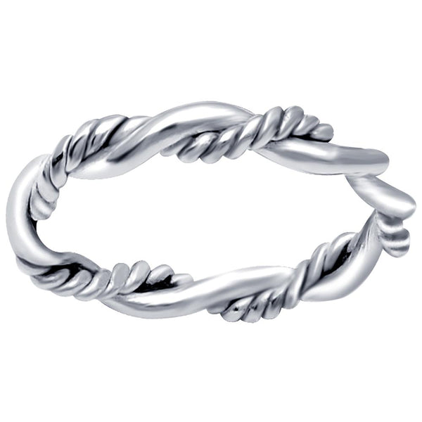 Essence Jewelry 925 Sterling Silver Twisted Band Ring