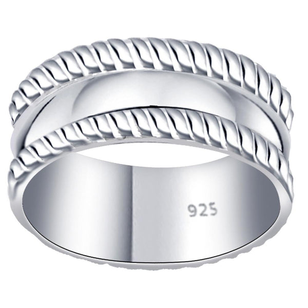 Essence Jewelry 7 mm Solid Sterling Silver Plain Band Ring