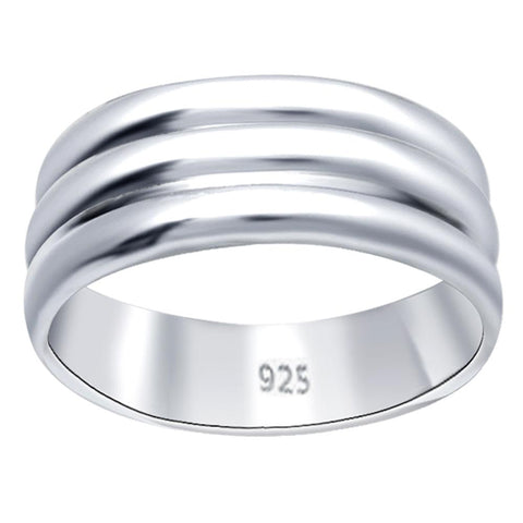 Essence Jewelry Sterling Silver Ridged Band Ring