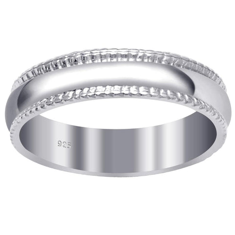 Essence Jewelry 925 Sterling Silver 4.50mm Confirm Fit Eternity Bands