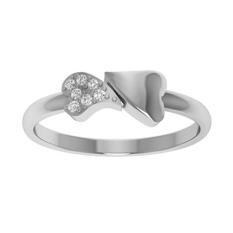 Two Heart Sterling Silver Mother's Day Ring
