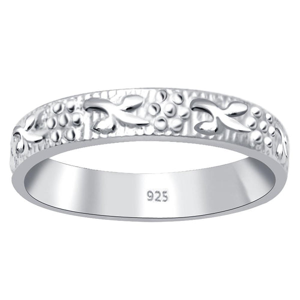 Essence Jewelry 925 Sterling Silver 2.50 mm Wedding Band Ring