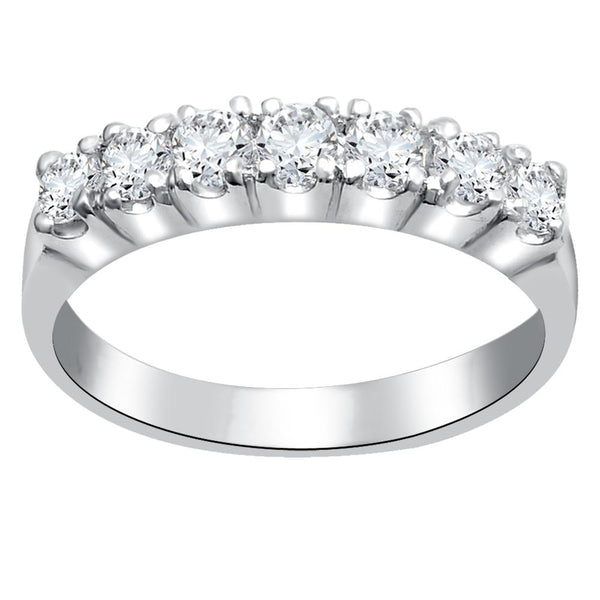 Orchid Jewelry 925 Sterling Silver Cubic Zirconia Eternity Ring