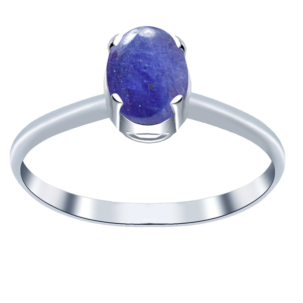 Orchid Jewelry Sterling Silver 1.10 CTW Tanzanite Oval Shape Anniversary Ring