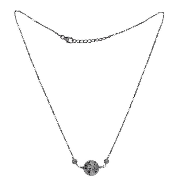 Jeweltique Designs 925 Sterling Silver 1.78 Carat Genuine Diamond Necklace