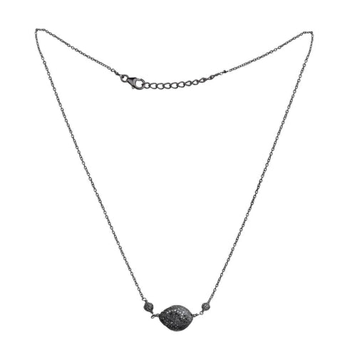 Jeweltique Designs 925 Sterling Silver 3.58 Carat Diamond Chain Necklace