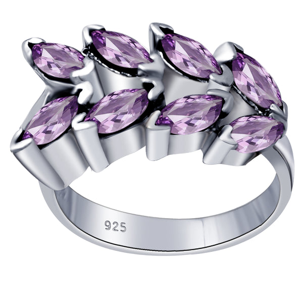 Orchid Jewelry Marquise Cut Gemstone Arrowhead Ring Solid 925 Sterling Silver With Rhodium Plating