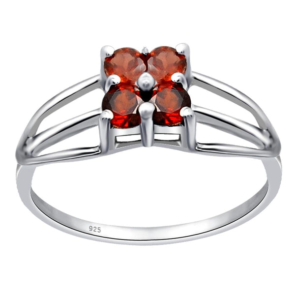 Orchid Jewelry 925 Sterling Silver Ring with Garnet, Peridot, Citrine, Amethyst & Topaz